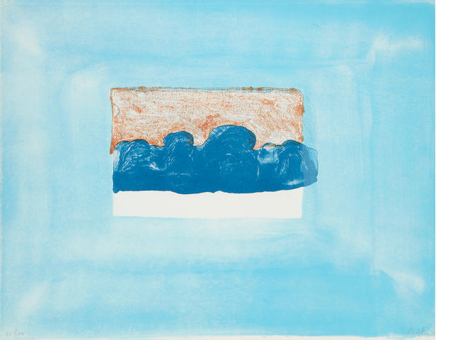 Sir Howard Hodgkin (British, born 1932) For John Constable lithograph printed in colours, 1976, signed, dated and numbered 41/100 in pencil, the full sheet printed to the edges, 440 x 560mm (17 1/2 x 22in)(SH)