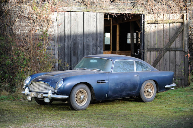 By Order of the executors of David Etteridge deceased, Barn Discovery, 47,226 miles, last MoT 1977,1964 Aston Martin DB5  Chassis no. DB5/1760/R