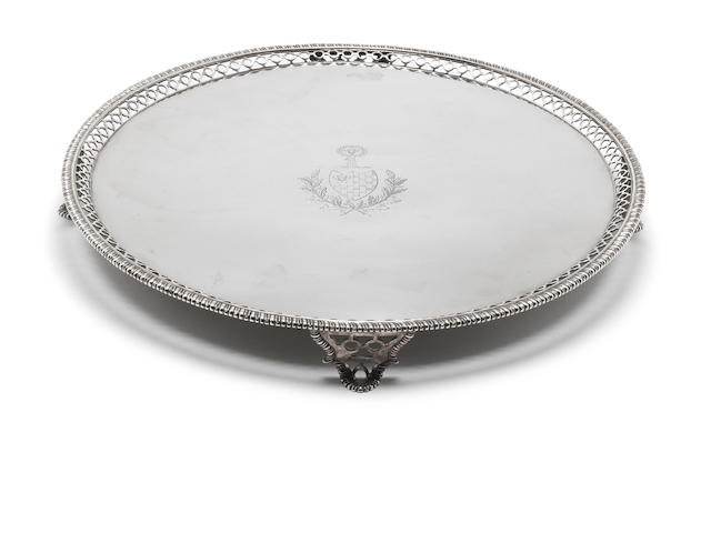 A George III silver salver by Crouch and Hannam, London 1774