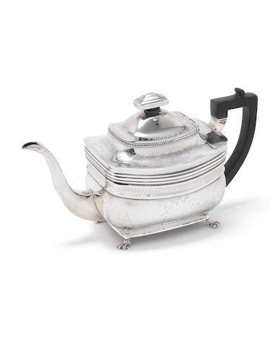 A George III silver teapot by Peter & William Bateman,  London 1809