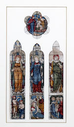 Henry Holiday (British, 1839-1927) Designs for two stained glass windows