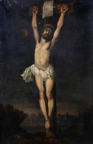After Sir Anthony Van Dyck Christ crucified before Jerusalem