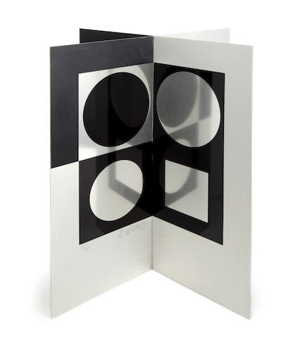 Victor Vasarely (Hungarian, 1906-1997) Image-mirror Multiple, 1965, screenprint on two sheets of aluminium, signed and numbered 20/138 in black ink, 460 x 400 x 400mm (18 x 15 3/4 x 15 3/4in)