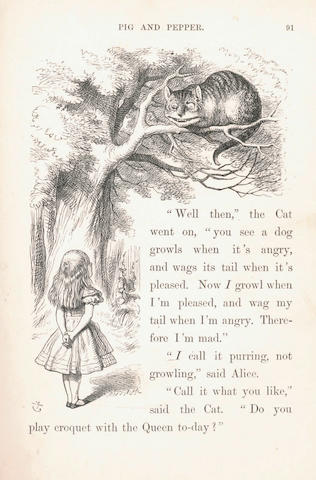 "[DODGSON (CHARLES LUTWIDGE)] ""Lewis Carroll"" Alice's Adventures in Wonderland, 1866; Through the Looking-Glass and what Alice found there, 1872 (2)"