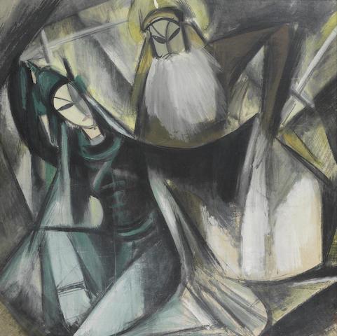 Lin Fengmian (1900-1991) Opera scene