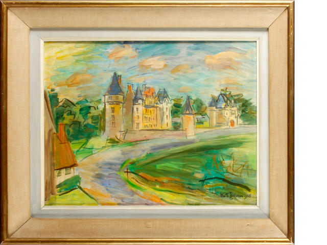 Keith Baynes (British, 1887-1977) Chateau Montpoupon, Touraine