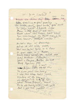 YEATS, WILLIAM BUTLER (1865-1939, Irish poet) AUTOGRAPH REVISED MANUSCRIPT OF HIS POEM 'ARE YOU CONTENT' AND AUTOGRAPH DRAFT OF HIS POEM 'THE SPIRIT MEDIUM', [late 1930s]