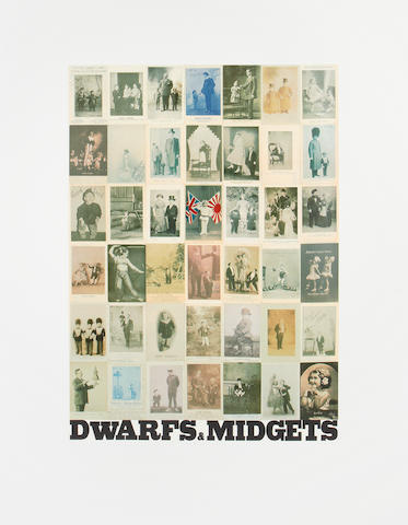 Sir Peter Blake (British, born 1932) D is for Dwarfs & Midgets, from the Alphabet Series Screenprint in colours, 1991, on wove, signed, titled and numbered 41/95 in pencil, published by Waddington Graphics and Coriander Studio, London, the full sheet, 1040 x 780mm (41 x 30 3/4in)(SH)(unframed)