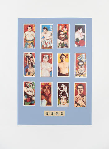 Sir Peter Blake (British, born 1932) S is for Sumo, from the Alphabet Series Screenprint in colours, 1991, on wove, signed, titled and numbered 41/95 in pencil, published by Waddington Graphics and Coriander Studio, London, the full sheet, 1040 x 780mm (41 x 30 3/4in)(SH)(unframed)