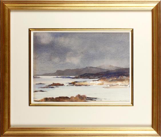 Francis Russell Flint (British, 1915-1977) Passing Rainstorm-Loch Alsh