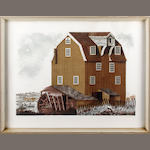 David Gentleman (British, 1930) View of a mill house Lithograph, signed in pencil (lower right), artist's proof + 25 theatre prints (1 unframed) + a set of 4 military engravings (30)