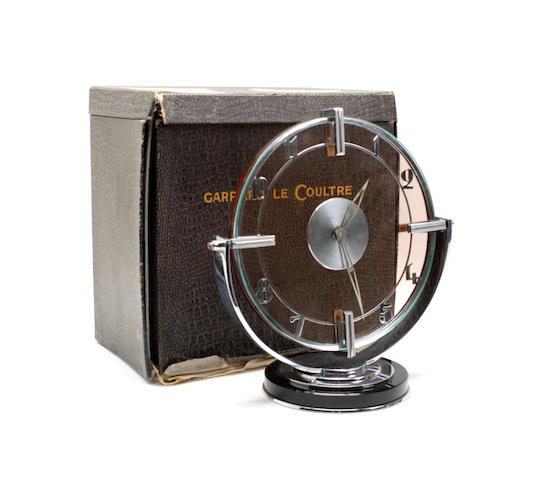 An Art Deco mantle timepiece By Garrard Le Coultre,