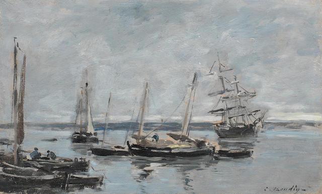 Eugène Louis Boudin (French, 1824-1898) Environs de Camaret