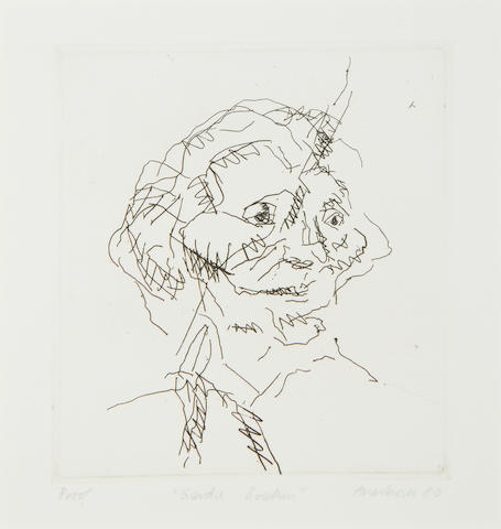 Frank Auerbach (British, born 1931) Gerda Boehm, from Six Etchings of Heads Etching, 1981, on Arches, signed, titled, dated and inscribed 'Proof' in pencil, an artist's proof aside from the numbered edition of 50, printed by Terry Wilson at Palm Tree Studios, published by Marlborough Graphics, London, with full margins, 150 x 135mm (6 x 5 1/4in)(PL)(unframed)