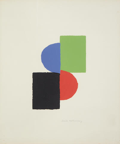Sonia Delaunay (French, 1885-1979) Untitled Lithograph printed in colours, on wove, signed in pencil,