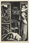 John Buckland-Wright (British, 1897-1954) Tusschen Vuur en Maan Wood engraving, 1932, on Japan, signed, dated, titled and numbered 9/10 in pencil, 158 x 98mm (6 3/4 x 4in)(B)(unframed)
