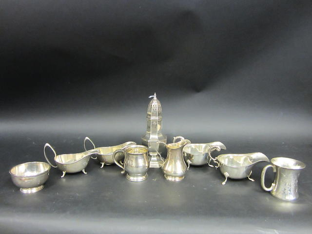 A silver sugar caster Sheffield 1937  (9)