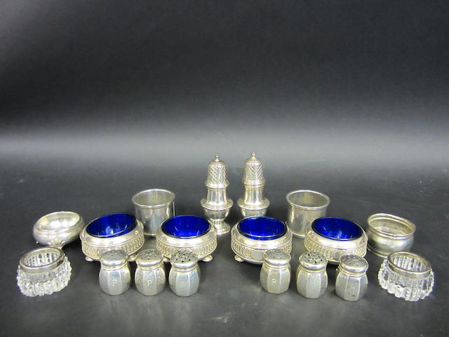 A Victorian set of four silver salts by Walter and John Barnard London 1879  (18)