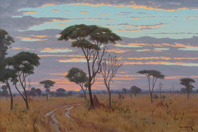 Willem Hermanus Coetzer (South African, 1900-1983) Sunset