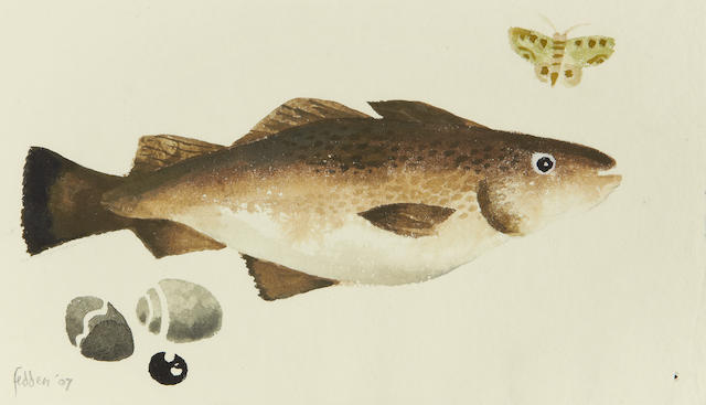Mary Fedden R.A. (British, 1915-2012) Fish and Butterfly