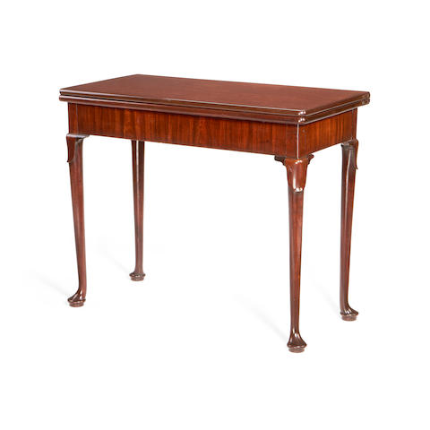 A George II mahogany concertina-action card table