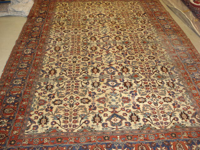 A Veramin carpet, West Persia, 336cm x 220cm