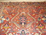 A Heriz carpet, North West Persia, 385cm x 210cm