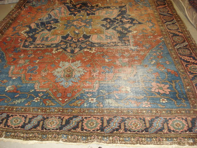 A Heriz carpet, North West Persia, 360cm x 282cm