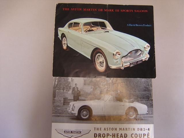 Two Aston Martin sales brochures,
