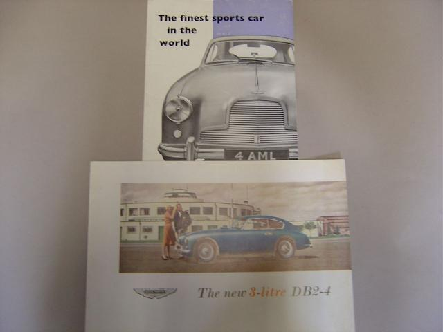 Two Aston Martin DB2-4 sales brochures,