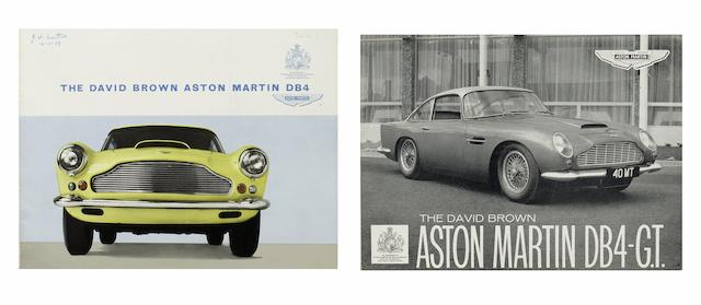 An Aston Martin DB4 sales brochure,