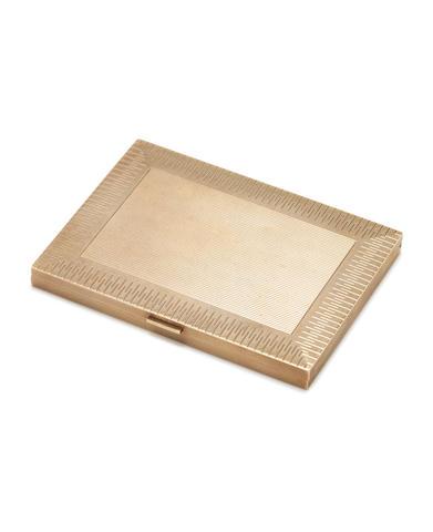 9ct gold cigarette case