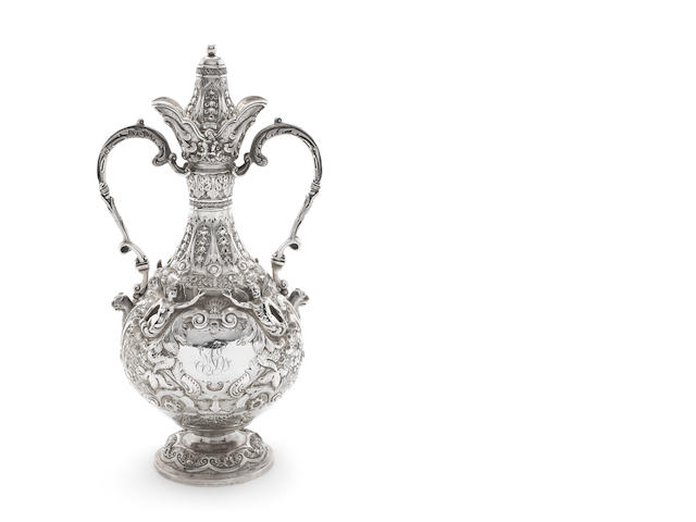 An Edwardian silver two-handled ewer, by Golssmiths & Silversmiths Co Ltd, London 1903