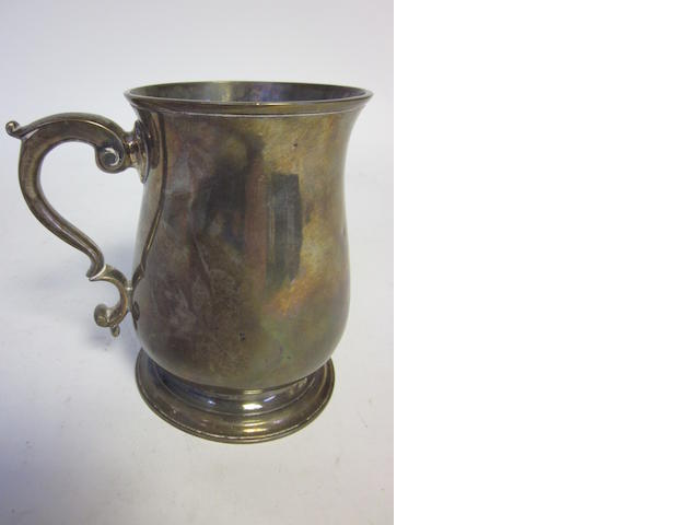 A George II  silver mug by Richard Gurney & Co, London 1756