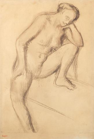Edgar Degas (French, 1834-1917) Femme nue assise