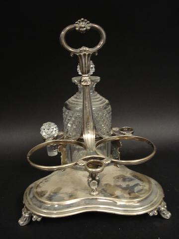 A William IV silver bottle decanter stand by the Barnards, London 1832