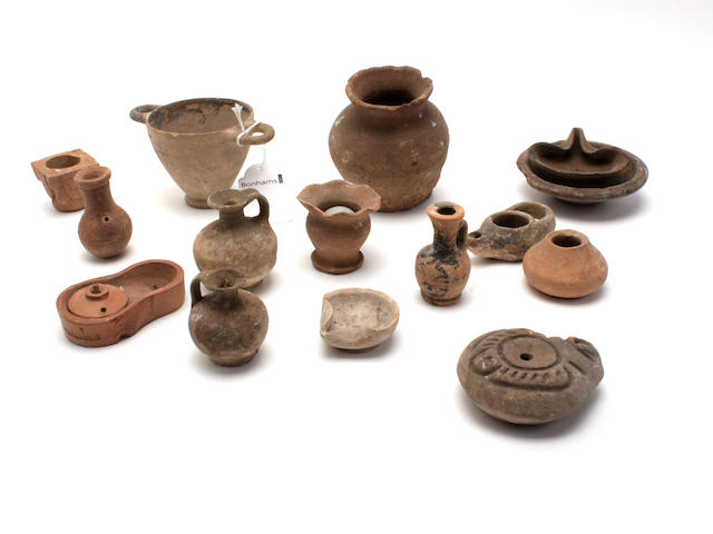 A small collection of Ancient miniature vessels