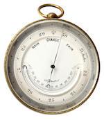 A brass pocket barometer, circa 1900