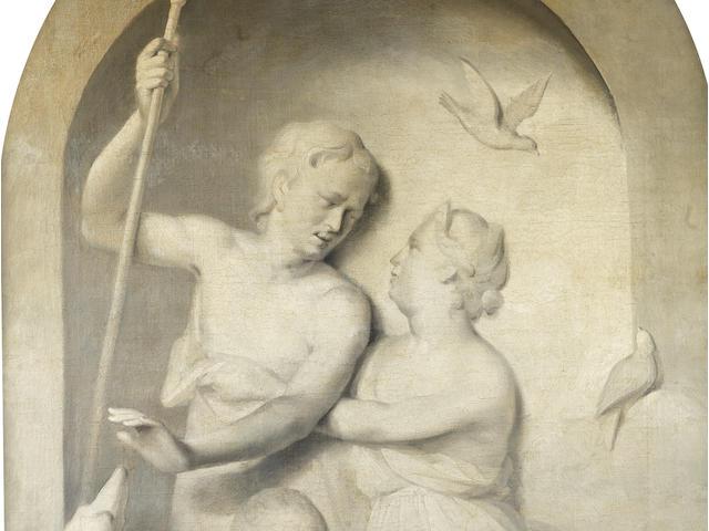 Circle of Jacob de Wit (Amsterdam 1695-1754) Venus and Adonis