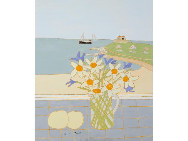 Bryan Pearce (British, 1929-2007) Daffodils and Irises