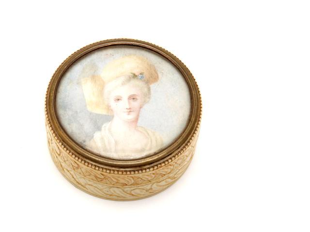 A 19th century ivory box