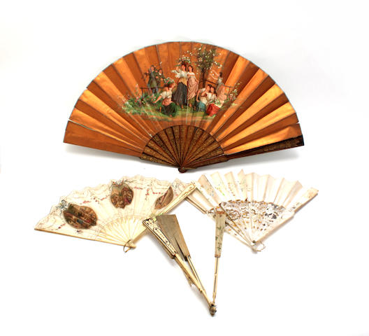A 18th century painted fan