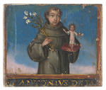 Italian School, 17th Century Saint Anthony; Saint Sebastian; Saint John the Baptist; Saint Bonaventu