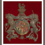 Stump work Royal Coat of Arms for George III