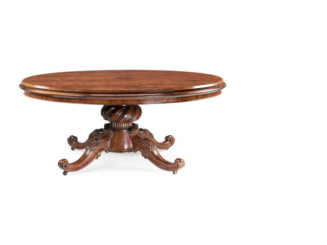 An early Victorian rosewood centre table