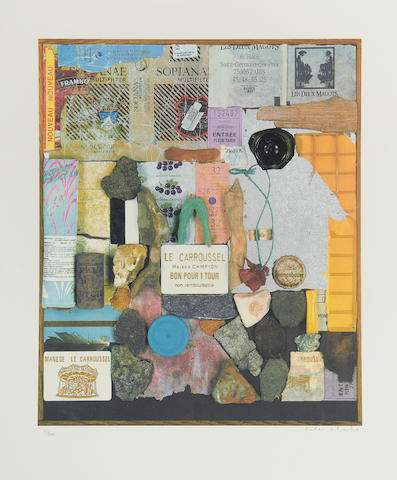 Sir Peter Blake (British, born 1932) A walk in the Tuileries Gardens Screenprint in colours, 2004, on wove, signed and numbered 37/200 in pencil, with full margins, 610 x 510mm (24 x 20in)(SH)(unframed)