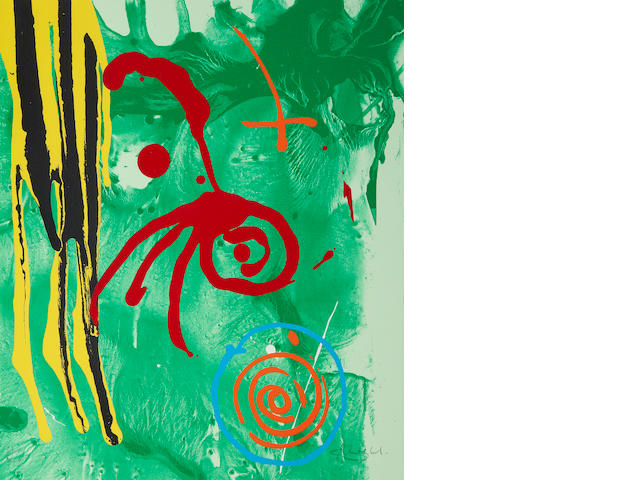 John Hoyland RA (British, 1934-2011) Gnome Screenprint in colours, 2004, on wove,  signed and numbered 31/200 in pencil, the full sheet printed to the edges, 520 x 442mm (20 1/2 x 17 1/2in)(SH)(unframed)