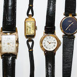 Four lady's wristwatches,