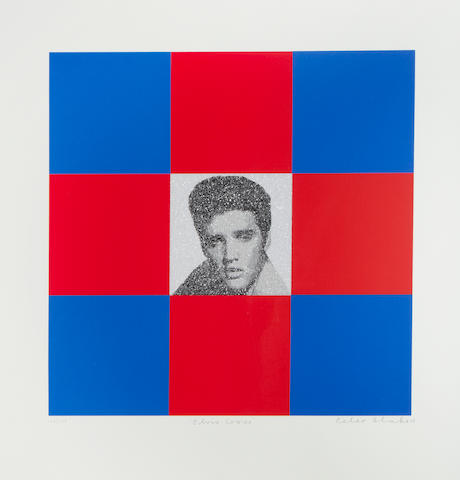 Sir Peter Blake (British, born 1932) Elvis Cross Colour screenprint with diamond dust, 2008, on wove, signe, dated, titled and numbered 146/225 in pencil, 715 x 685mm (28 1/4 x 27in)(SH)