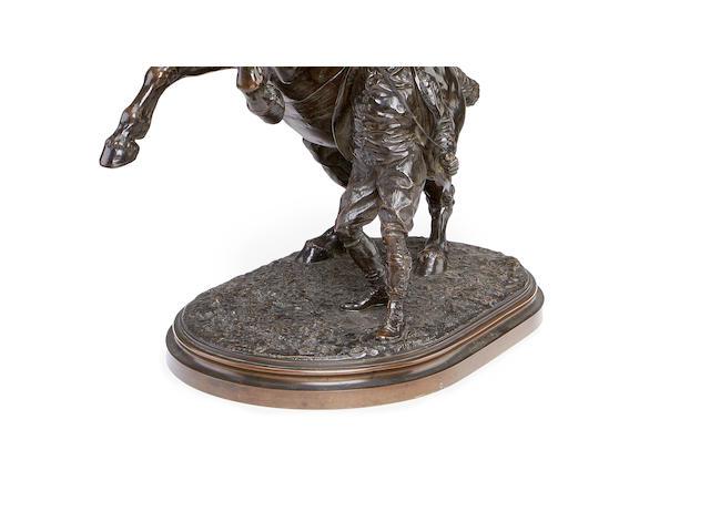 Joseph Edgar Boehm, British (1834-1890) A bronze model of The Suffolk blacksmith